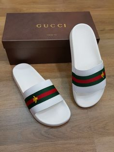 Hype Shoes, Gucci Shoes, Gucci Tshirt, Gucci Slipper, Nike Slippers, Shoes Flats Sandals, Heels, Gucci Brand, Nike Air Shoes