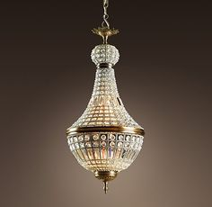 """19th C. French Empire Crystal Chandelier 18"""""""
