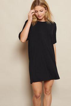 Boyfriend Crewneck T-Shirt Dress