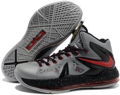 premium selection 9a2ce a497a Nike Lebron 10 Elite Grey Black Red Buy Nike Shoes, Discount Nike Shoes, Ps