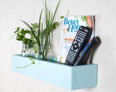 Livre de boîte étagère murale organisateur - Aqua Ocean Blue - jardin Vertical, jouet rangement, étagère, rangement de salle de bains - Options personnalisées - 22 pouces