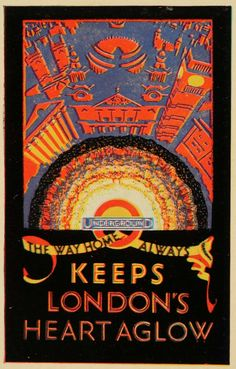London Underground poster-- vintage looks good on this city! Posters Uk, Railway Posters, Vintage Advertising Posters, Vintage Travel Posters, Vintage Typography, Typography Poster, London Underground Tube, Retro Poster, Poster Vintage
