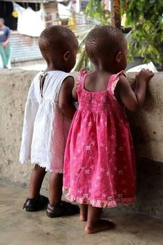 """In Africa there are """"TWO"""" little Doll-Babies,,,and here they are! Watching over the """"MOTHER"""" Land! Precious Children, Beautiful Children, Beautiful Babies, Beautiful People, We Are The World, People Around The World, Little People, Little Ones, Cute Kids"""