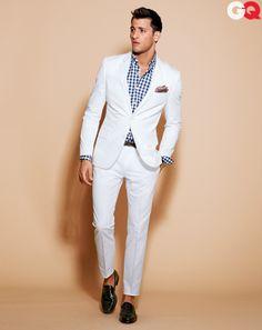 Beautiful white suit..,