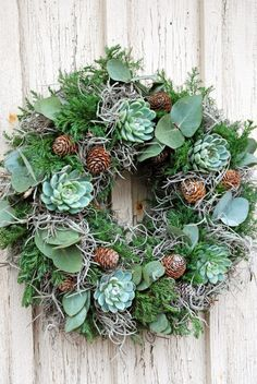– De effektive bildene vi tilbyr deg om julekrans diy Et kvalitetsbilde kan … -… Christmas Flowers, Christmas Decorations, Holiday Decor, Christmas Cactus, Christmas Ideas, Diy Wreath, Door Wreaths, Flores Diy, Succulent Wreath