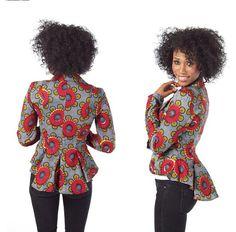 Beautiful african print ankara jacket styles for women, classy ankara jackets designs for african ladies African Dresses For Women, African Print Dresses, African Attire, African Wear, African Women, African Outfits, African Prints, African Style, African Inspired Fashion