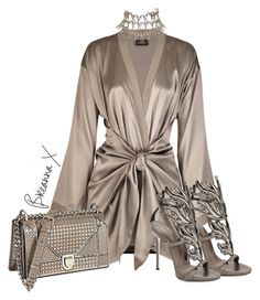 """Untitled #3258"" by breannamules ❤ liked on Polyvore featuring La Perla, Christian Dior and Giuseppe Zanotti"