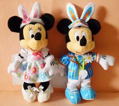 2016 Tokyo Disneyland Disney Easter Mickey Minnie plush chain badge Japan New #Disney