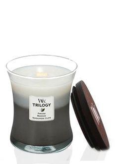 Woodwick Warm Woods Trilogy Jar Candle