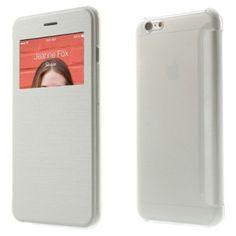 Funda tipo libro con ventana iPhone 6 plus 5.5 blanca