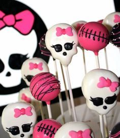 Monster High Cake Pops
