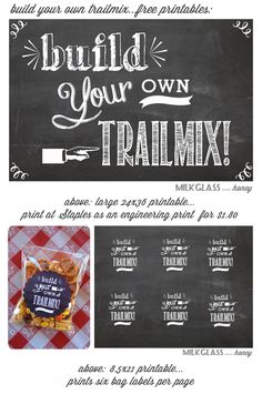 Things I Should Do: Build your own Trail mix printables