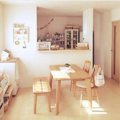 大塚家具/のんびりタイム/かご大好き/salut!/セリア/ナチュラル…などのインテリア実例 - 2015-03-04 22:24:19 | RoomClip(ルームクリップ) Japanese Interior Design, Home Interior Design, Interior Architecture, Interior Decorating, Muji Furniture, Muji Home, Home Decor Kitchen, Simple House, Cozy House