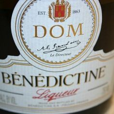 *Benedictine DOM Liqueur*  Benedictine DOM Liqueur uses twenty-seven ingredients of herbs and spices the D.O.M. stands for Deo Optimo Maximo.    Close to its 500th birthday and produced at the Benedictine Monastery at Fecamp on the coast of Normandy, France since 1510 The monastery was destroyed during the French revolution and has since been produced by Alexandre le Grand.
