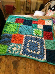 Crazy squares little blanket