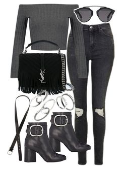 Untitled #19927 by florencia95 on Polyvore featuring polyvore mode style Topshop Alexander Wang Yves Saint Laurent MANGO Christian Dior H&M fashion clothing