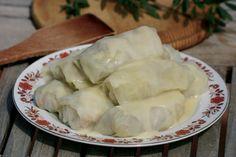 Λαχανοντολμάδες με Αυγολέμονο | Stuffed cabbage leaves with egg-lemon [known as Avgolemono] sauce