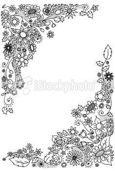 Flower corner doodles