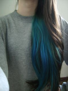 black hair with teal underneath - Google Search