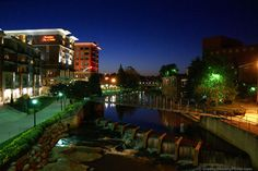 greenville sc. great downtown, super for runners and bikers
