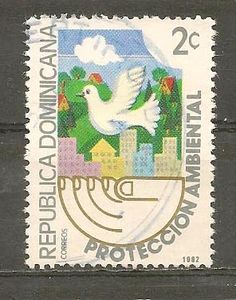 DOMINICAN REPUBLIC STAMP USED PROTECCION AMBIENTAL 1982