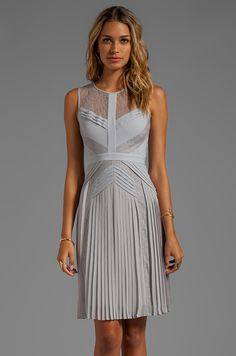 BCBGMAXAZRIA Sleeveless Dress in Glacier - The lines on this dress have an art-deco vibe that I like. Dressy Dresses, Bcbgmaxazria Dresses, Revolve Clothing, Women's Clothing, Little Dresses, Beautiful Outfits, Bridesmaid Dresses, Bridesmaids, Casual