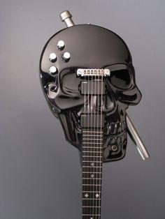 Custom Made Skull Baritone Electric Guitar