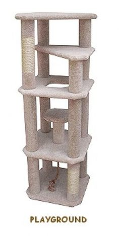 Cool cat tree plans help you build your own cat tree like this tall kitty playground Cool Cat Trees, Diy Cat Tree, Cool Cats, Cat Tree Plans, Cat Climber, Cat Tree House, Cat Towers, Cat Shelves, Cat Scratching Post