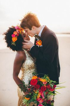 Beautiful bride and dress interracial wedding Interracial Couples, Interracial Wedding, Biracial Couples, Beaux Couples, Cute Couples, Beautiful Love, Beautiful Couple, Dream Wedding, Wedding Day