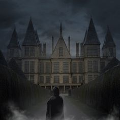 Snape standing outside Malfoy Manor