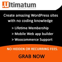 WordPress Themes - ultimatum lets you create custom wordpress sites w/o coding knowledge. woocommerce support too! Best Wordpress Themes, Wordpress Plugins, Theme List, Coupon Codes, Coupons, Blogging, How To Make Money, Knowledge, Coding
