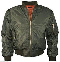 Celeb Kardashian Pilot Biker Bomber Jacket Military Womens MA-1 Flight Coat Army [Khaki, XS]