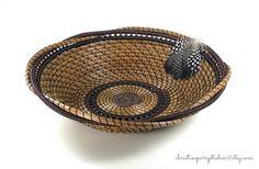 Western Decor Pine Needle Basket Handmade by ChristinePerryStudio