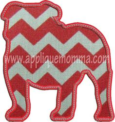 Bulldog Applique Design