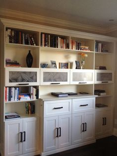 Home Office Bookcase by California Closets  WANT. But, in black. Wish I could build this myself!