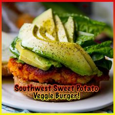 Megan Ewoldsen - Health and Fitness | Southwest Sweet Potato Veggie Burger