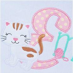 Kitten Alphabet - upper case applique