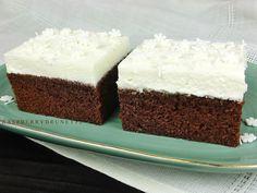Raspberrybrunette: Čokoládovo - banánový koláč s tvarohovým krémom