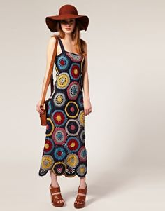 People Tree Crochet Maxi Dress