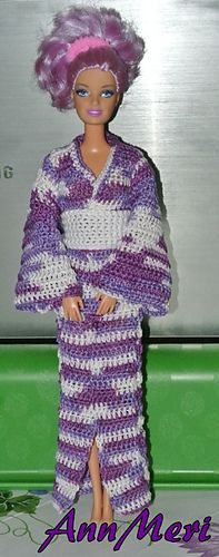Free Crochet Pattern For Kimono : Barbie Crochet on Pinterest Barbie Dress, Barbie and ...