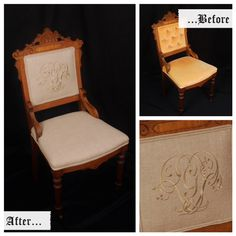 Victorian Eastlake chair with front casters circa 1800-1870 receives a face lift.