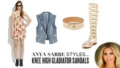 how to rock knee-high sandals