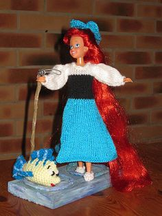 Ariel la petite sirène- tuto tricot free : http://tricotdamandine.over-blog.com/tag/princes%20et%20princesses%20disney/