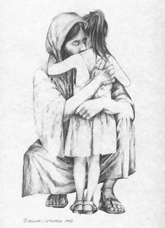 I love this image. We are all still that little child in the arms of our Savior.