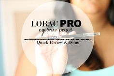 Ditch all of your brow products and pick the LORAC PRO brow pencil up! It's a game changer!