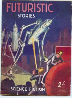 H. W. Perl's amateur cover for the No. 1 1946 issue of Futuristic Stories, ed. Dennis H. Pratt