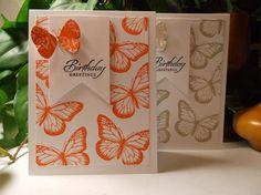 Rachel's Card Corner - butterfly birthday, sahara sand and tangerine tango, best of butterflies, wetlands sentiment