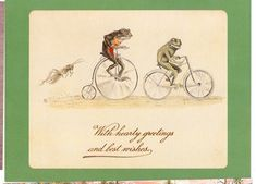 FROGS ON VINTAGE BICYCLES REPRODUCTION ON PC (#5*)