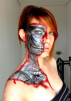 Would be a great Halloween costume, especially with one red contact lens, a la Terminator.