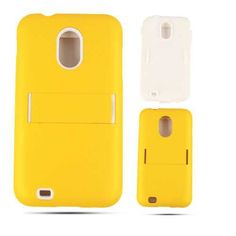 Unlimited Cellular Hybrid Fit On Jelly Case for Samsung Galaxy S2 Epic 4G D710 (Leather Finish Gold)